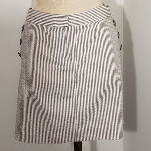 J. Crew seersucker sailor skirt Size 8